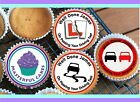24 PERSONALISED DRIVING TEST EDIBLE CUP CAKE TOPPERS RICE PAPER/ICING DESIGN 1