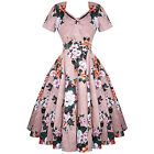 Womens New Floral Rockabilly 50s Vintage Party Prom Swing Shrug Dress