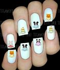 30 NAIL ART DECALS STICKERS CUTE KAWAII ANIMALS CAT DOG PANDA PEEL AND STICK