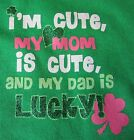Baby's 1st First St. Patrick's Mother's Father's Day Daddy is Lucky Onesie NB-18