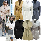 NEW Womens SAM FAIERS TOWIE Oversize Short Waterfall Coat Jacket Size 8 10 12 14