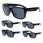 Kush Matte Black Frame All Black Gangster Sporty Rectangular Sunglasses