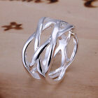 Lady Men 925 Silver Plated Mesh Fishnet Ring Free Shipping Jewelry Sz 6 7 8 9 10
