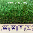 Artificial Astro Grass 4m Wide Quality Fake Lawn Turf 40mm 2600gr/m2 - £16.40 m2