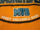1st First Mother's Day Father's Day MVB Basketball Onesie NB - 12 Go Warriors