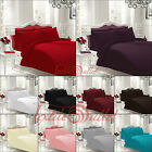 Plain Dyed Duvet Quilt Cover Set With Pillow Cases Single Double King Super king