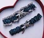 NEW Gorgeous Teal Silver Wedding Garter Prom Homecoming GetTheGoodStuff A+ Cupid