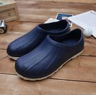 Navy Chef Shoes Non-Slip Clogs Water Oil Safety Hospital Fishing Kitchen Comfort