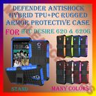 DEFENDER ANTISHOCK TPU+PC RUGGED ARMOR CASE & STAND for HTC DESIRE 620 & 620G