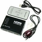 5 PORT 1080p HDMI Switch Switcher Selector Splitter Hub + iR Remote For HDTV PS3