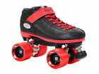 Riedell R3 Limited Edition Quad Roller Speed Skates w/ 2 Pair of Laces Red & Blk
