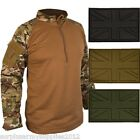 MILITARY TACTICAL  UBAC ARMOUR SHIRT +UK PATCH BROWN MTP BTP ARMY CADET AIRSOFT