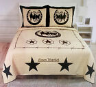 Texas Western Design Star Horse Shoe Quilt BedSpread Comforter Style - 3 Pc Set