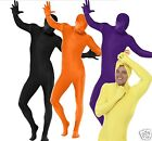 Adult Second Skin Zentai Lycra Full Body Bodysuit Fancy Dress Gimp Costume M-XL