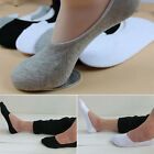 1 2 5 Pairs Soft Men Casual Cotton Loafer Boat Non-Slip Invisible No Show Socks