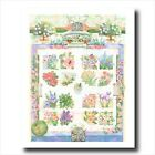 Flower Garden Maze And Sun Dial Wall Picture