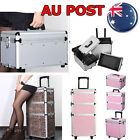 Classic Trolley Hairdressing Makeup Storage Cosmetics Beauty Dresser Case Box