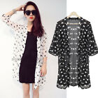 Stylish Womens Casual Chiffon Long Sleeve OL Star Printed Blouse Tops Shirt Top