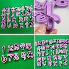 10/26/36pcs Alphabet Letter Number Cake Decorating Cookie Cutter Topper Tools