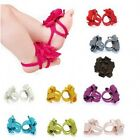 Baby Toddler Infant Girls Barefoot Flower Sock Sandals Toe Blooms Shoes Cotton