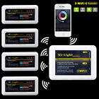 IOS Android Phone MiLight 2.4G WiFi Controller 4 RGB RGBW led strip Bulb light