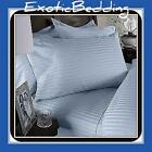 1200 Thread Egyptian Cotton sheet Set - Blue Stripe