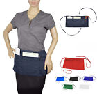 WAITRESS WAITER WAIST HALF BIB APRONS HEAVY DUTY 3 POCKET BARISTA 6 Color