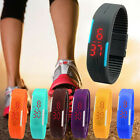 New Ultra Thin Men Girl Sports Silicone Digital LED Sports Wrist Watch Low-Price