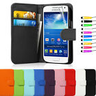 Flip Wallet Leather Case For Samsung Galaxy S4 Mini I9190 FREE Screen Protector