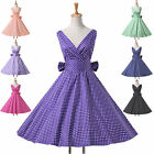 Women Vintage 1950s Style Full Circle Flared Party Prom Evening Dress