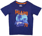 Boys Vibrant Miami 70 Print Cotton T-Shirt Top Tee 2 to 8 Years NEW