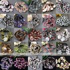 1 Strand 30mm Mother Of Pearl MOP Shell Flower Spots Flat Coin Round Loose Beads