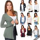 Womens Thin Jersey Button Down V Neck Top Plain Cardigan Shrug Cover Up Blouse