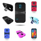 For Samsung Galaxy S5  Sport - Hybrid  Rugged Armored Cover Case With  Kickstand