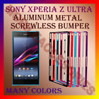 ACM-ALUMINUM BUMPER METAL CASE COVER SCREWLESS FRAME for SONY XPERIA Z ULTRA NEW