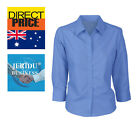 Ladies Poplin Womens Shirts Top Blouse Office Wear Formal Business Work Cotton