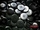 23mm 36L Black Quality 4 Hole Buttons Coat Craft Sewing Knitting Arts BB46