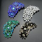New Big Size Fashion Jewelry Crystal Glass Flower Clusters Leaf resin Brooch pin