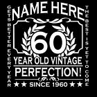 Personalised 60th Birthday T-Shirt Add Name and Year Of Choice Great Gift 1955