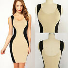 New Sexy Womens Bodycon Optical Illusion Cocktail Evening Pencil Slim Dress
