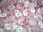 Small 12mm x 8mm Lilac Pink Pearlescent Rectangular 2 Hole Baby Buttons AA39