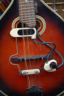 Vintage RARE 1960's DeArmond White Monkey on a Stick Mandolin Pickup Works WOW