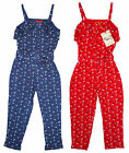 Girl's Funky Diva Button Tie Front Summer Strap Jumpsuit 2 to 6 Years NEW