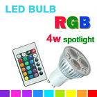 GU10 3.5W Remote Control LED Bulbs 16 Color Changing RGB Dimmable Spot light UK