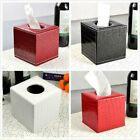 PU Leather Tissue Box Cover Paper Holder Home Deco