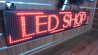 RED - LED SHOP SIGN DISPLAY- Size: 39 X 7.5 inch  P10 - USB - Highest Brightness