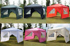 10x10 EZ POP UP 4 WALLS CANOPY PARTY TENT GAZEBO WITH SIDES Colors