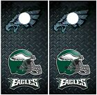 Philadelphia Eagles Diamond Plate Cornhole Board Decal Wrap Wraps $54.95 USD on eBay