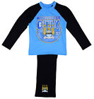 Boys Official Manchester MAN CITY MCFC 1894 Pyjamas Blue 4 to 12 Years NEW