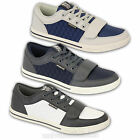 Mens Trainers Crosshatch Sneakers Shoes Lace Up Quilted Velcro Running Designer